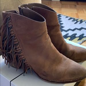 Dolce Vita Brown Booties w/ Tassels